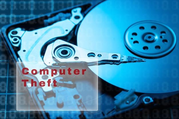 Concept de sécurité des données. disque dur de cryptage des données.