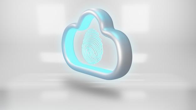 Concept de sécurité des données en nuage.