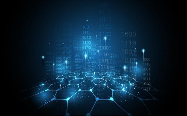 Concept de sécurité numérique cyber fond abstrait de la technologie