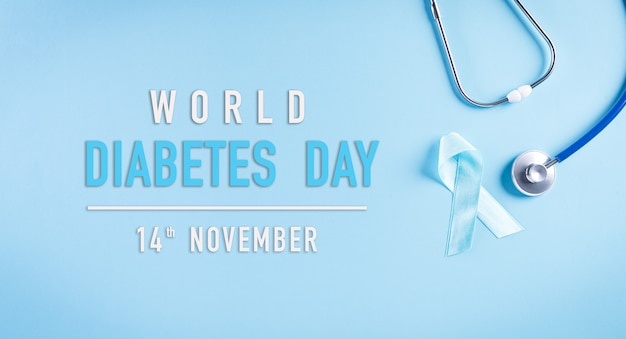 Concept de sensibilisation à la journée mondiale du diabète