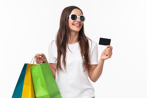 Concept de shopping, de loisirs et de style de vie.