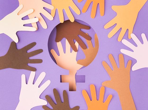 Concept de solidarité vue de dessus