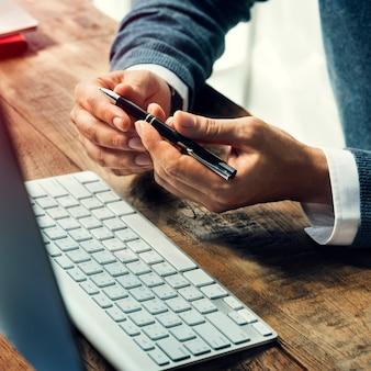 Concept de solution vision analyze business mission strategy