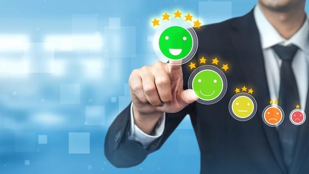 Concept de sondage de satisfaction client examen.