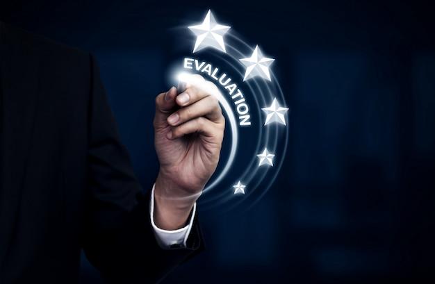 Concept de sondage sur la satisfaction des clients