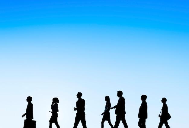 Concept de soutien au travail d'équipe des gens d'affaires