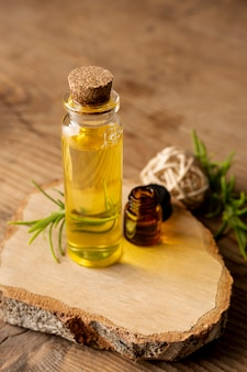 Concept spa à angle élevé avec huile