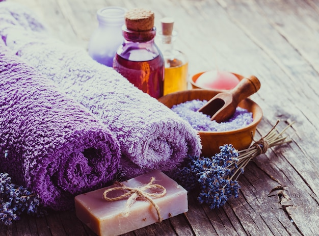 Concept de spa lavande