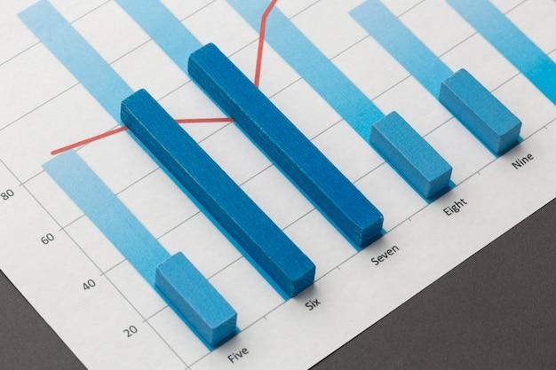 Concept de statistiques avec des blocs de bois