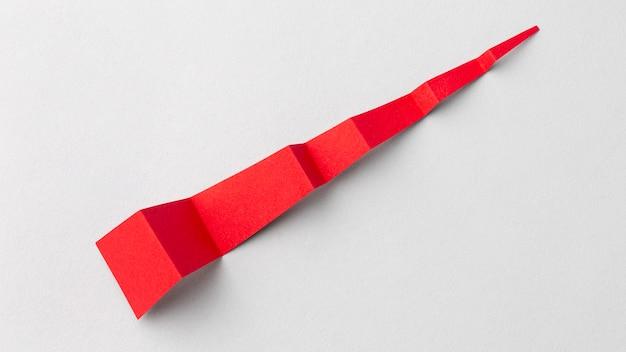 Concept de statistiques avec morceau de papier rouge