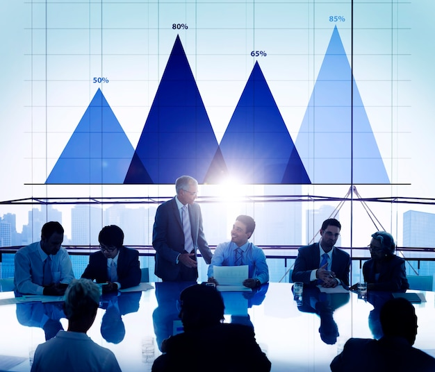 Concept de stratégie d'analyse de données commerciales concept de graphique de marketing