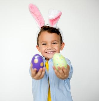 Concept de studio de fête des enfants de pâques