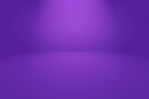 Concept de studio - fond de chambre studio abstrait dégradé de lumière vide violet pour le produit.