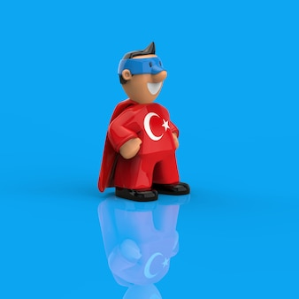 Concept de super-héros - illustration 3d