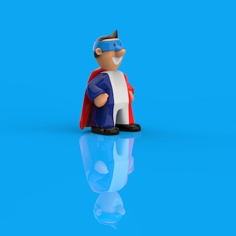 Concept de super-héros - illustration 3d