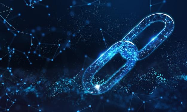 Concept de symbole d'entreprise blockchain.