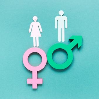 Concept de symboles colorés d'égalité des droits