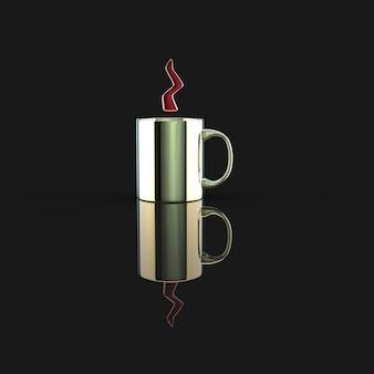 Concept de tasse de café - illustration 3d