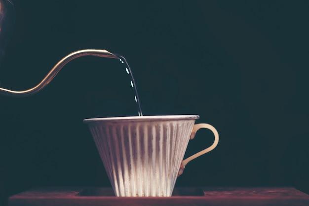 Concept de tasse à café saveur filtre à caféine
