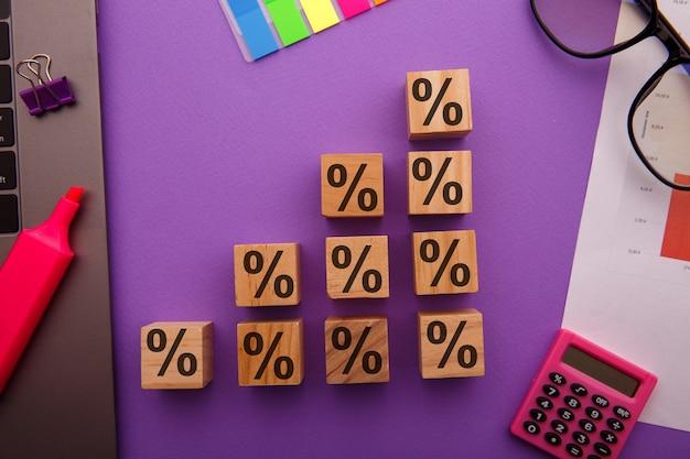 Concept de taux d'intérêt financiers et de taux hypothécaires