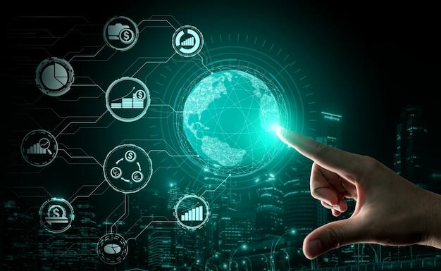 Concept de technologie de finance et de transaction monétaire