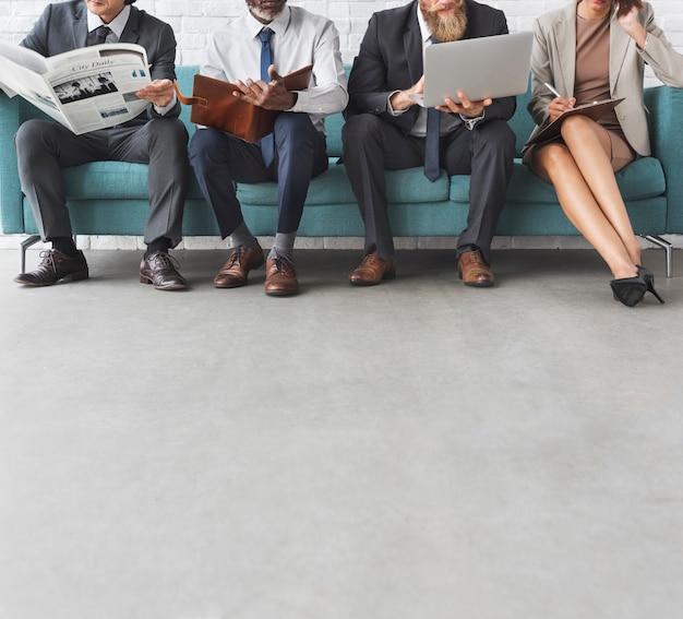 Concept de technologie de l'information des gens d'affaires