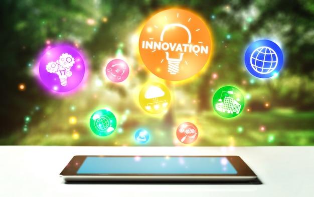Concept de technologie d'innovation pour la finance d'entreprise