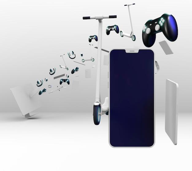 Concept technologique avec appareils