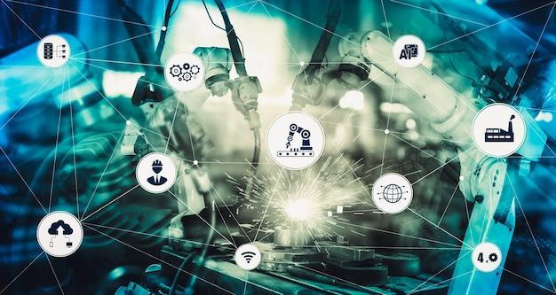 Concept technologique industriel de l'usine intelligente pour la quatrième révolution industrielle