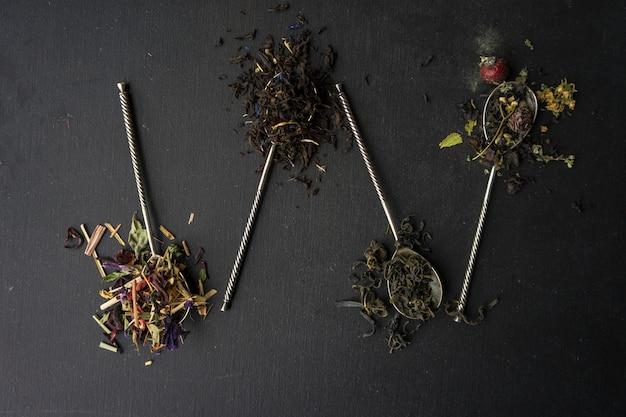 Concept de thé floral