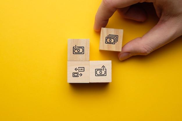 Le concept de transfert et d'échange d'argent dans le système bancaire.