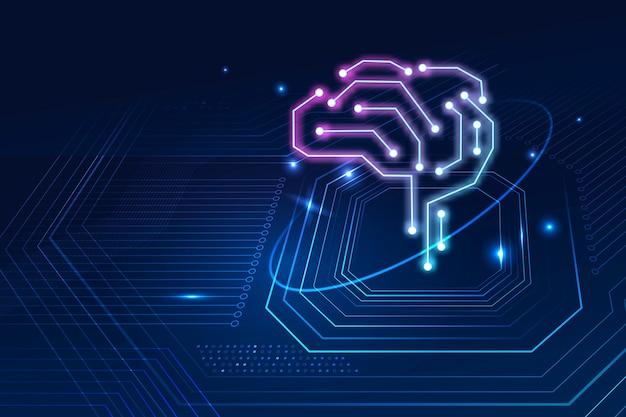 Concept de transformation numérique de fond de cerveau de technologie d'ia