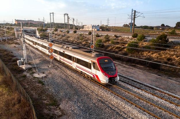 Concept de transport avec train