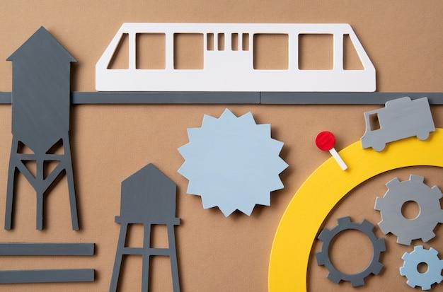Concept de transport urbain avec tram