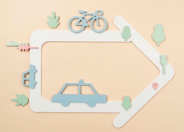 Concept de transport urbain avec des voitures
