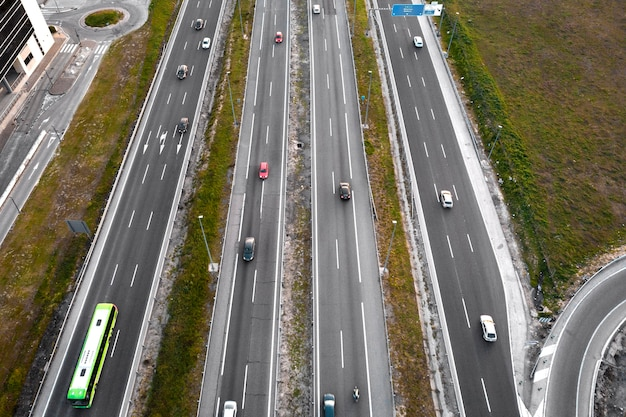 Concept de transport avec des véhicules
