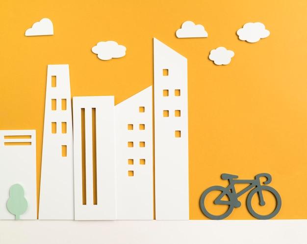 Concept de transport à vélo
