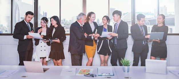 Concept de travail business meeting meeting
