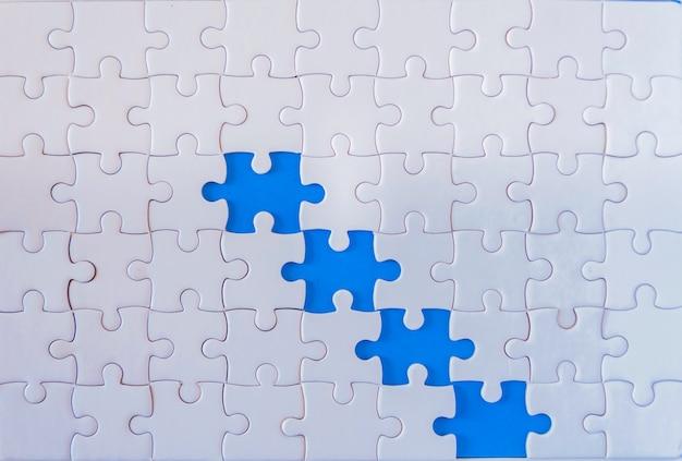 Concept de travail en équipe avec jigsaw