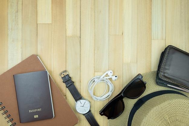 Concept de vacances espace bois fond espace concept de vacances