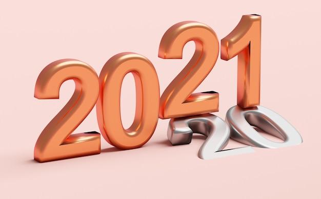 Concept de vacances de nouvel an le nouveau numéro se situe à l'ancien