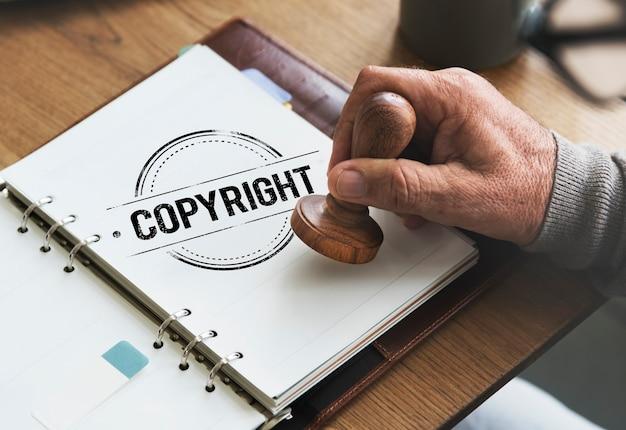 Concept de valeur de marque de brevet de licence de conception d'auteur