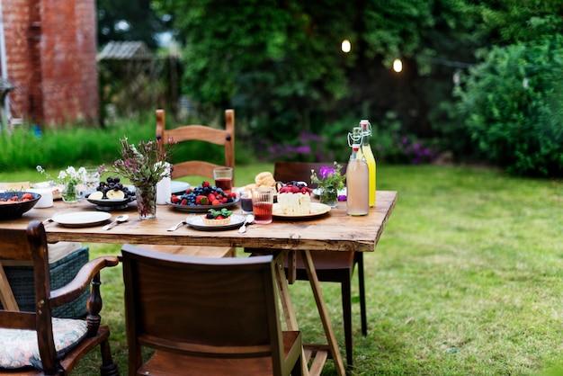 Concept de variété pour le repas de table