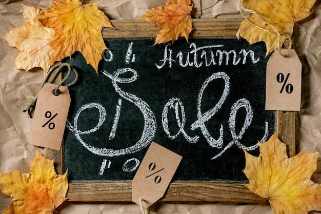 Concept de vente d'automne