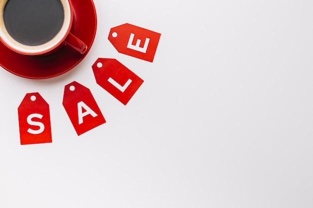 Concept de vente de café vendredi noir