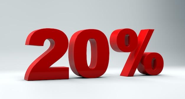 Concept de vente de réduction de 20% sur fond