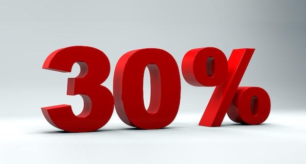 Concept de vente de réduction de 30% sur fond