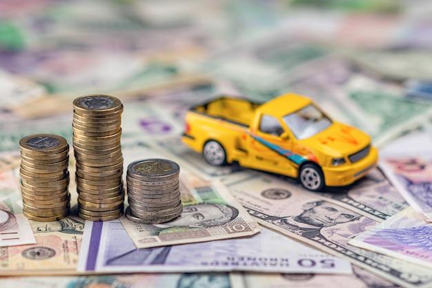 Concept voiture et argent