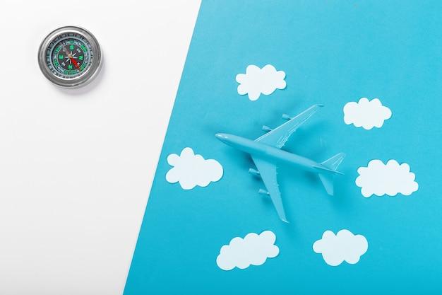 Concept de voyage avec avion