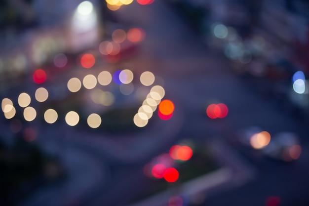 Concept de voyage: bokeh light and blur autumnbackground